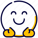 emoji, emoticon, feelings, hug, smileys icon
