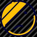 badge, emoji, emoticon, feelings, hurt, smiley icon