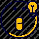emoji, emoticon, feelings, idea, smileys icon