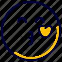 emoji, emoticon, emotion, feelings, kiss, kissing, smileys icon