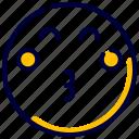 emoji, emoticon, feelings, kiss, kissed, people, smileys icon