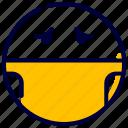 emoji, emot, emoticon, feelings, mask, smileys icon