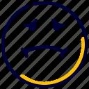 emoji, emot, emoticon, feelings, nausea, smileys icon