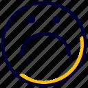 face, feelings, people, sad, sadness, smiley icon