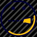 emoji, emoticon, feelings, secret, shut, smileys icon