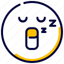 emoji, emoticon, feelings, sleep, sleeping, smiley icon