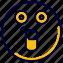 emoji, emoticon, feelings, smileys, surprised icon