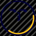 emoji, emoticon, expression, feelings, people, smileys, suspicious icon