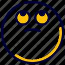 emoji, emoticon, feelings, smileys, suspiciously icon