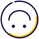down, emoji, emoticon, feelings, smileys, upside icon