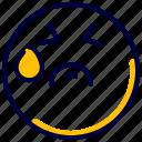 emoji, emoticon, feelings, sad, smileys, very icon