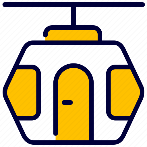 cable, cableway, car, funicular, ski, transport, winter icon