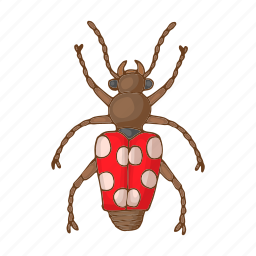 beetle, bug, cartoon, creature, fly, insect, pest icon