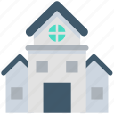 apartments, building, bungalow, flats, residential flats icon