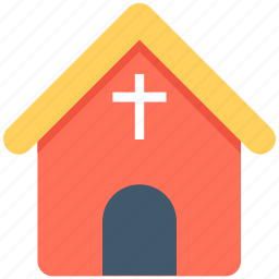 chapel, christian building, church, religious, religious place icon