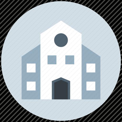 building, institute, institute building, real estate, school icon