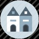building, castle, castle building, castle tower, fortress, medieval icon