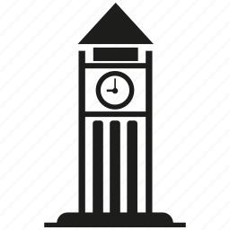 building, clock, clock tower icon