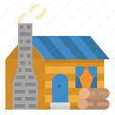cabin, home, house, residential, wood icon
