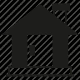 building, door, home, house icon