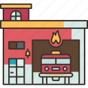fire, station, firefighter, emergency, service