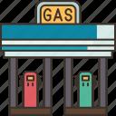 gas, station, energy, fuel, petrol