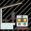 train, station, platform, transportation, public