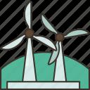 windmill, windfarm, energy, turbine, power