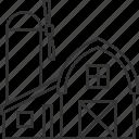 farm, house, barn, country, rural