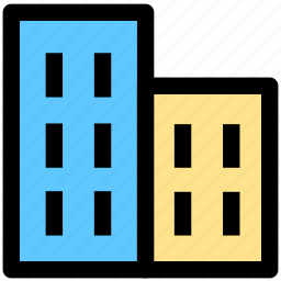building, city, construction, houses icon