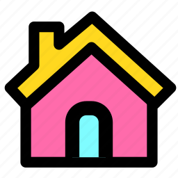 building, construction, family, home, house icon