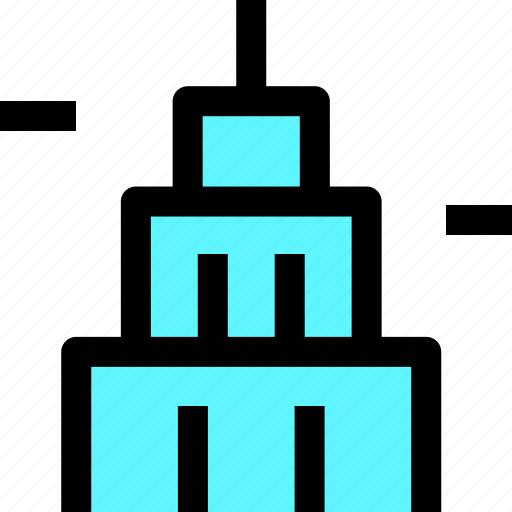 building, construction, house, office icon