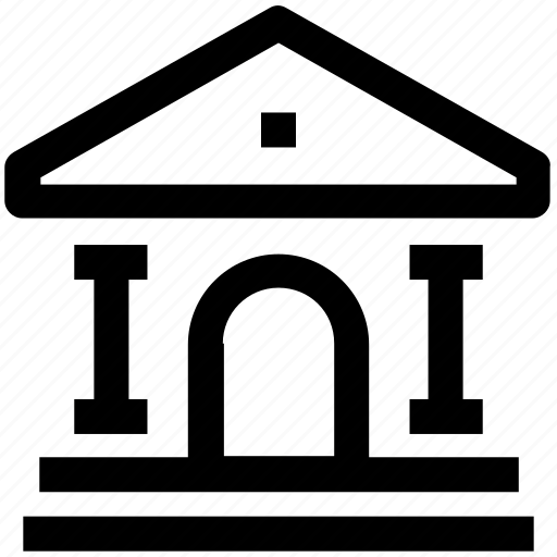 .svg, building, court, court building, courthouse, institute icon