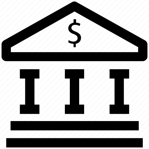 .svg, bank, bank building, building, courthouse, dollar, institute icon