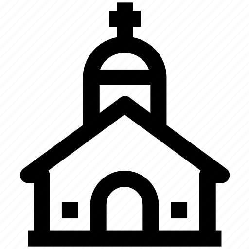 .svg, chapel, christianity, church, religious building, religious place icon