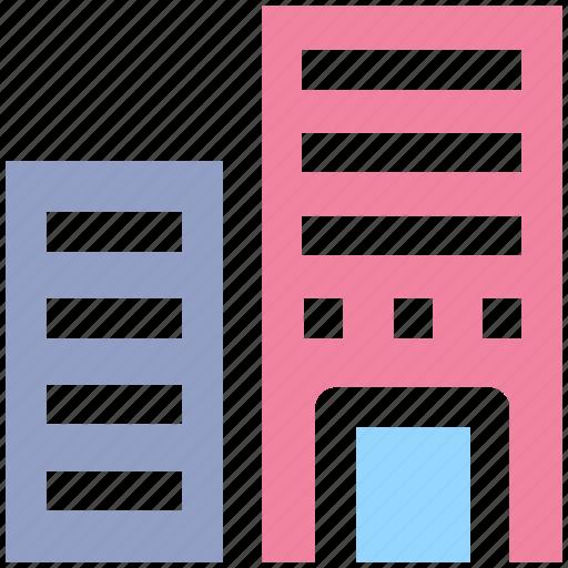 building, city building, flats, hotel, skyscraper icon