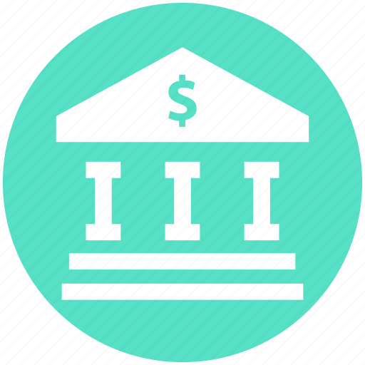 bank, bank building, building, courthouse, dollar, institute icon