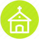 building, chapel, christianity, church, religious building, religious place icon
