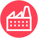 building, factory, industry, mill, power plant, production unit icon