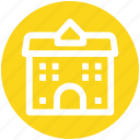 building, commercial building, modern building, office, real estate, school icon