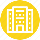 building, city building, flats, hotel, office block, skyscraper icon