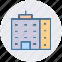 building, flats, city building, skyscraper, office block icon