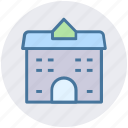 building, school, office, modern building, commercial building, real estate icon