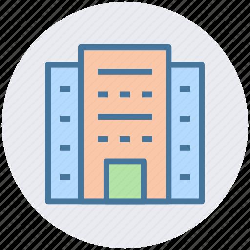 building, city building, flats, hotel, office block, skyscraper icon