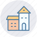 building, villa, palace, house, mansion, luxury house icon