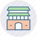architecture, building, commercial building, factory, real estate icon