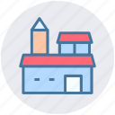 building, mansion, luxury house, villa, palace icon