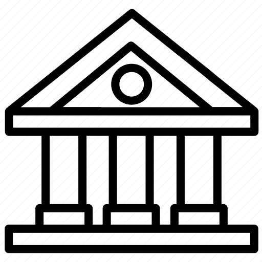 bank, building, business, finance, house, money icon