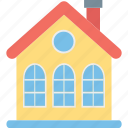 apartments, building, city building, residential flats icon