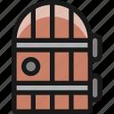 architecture, door, retro